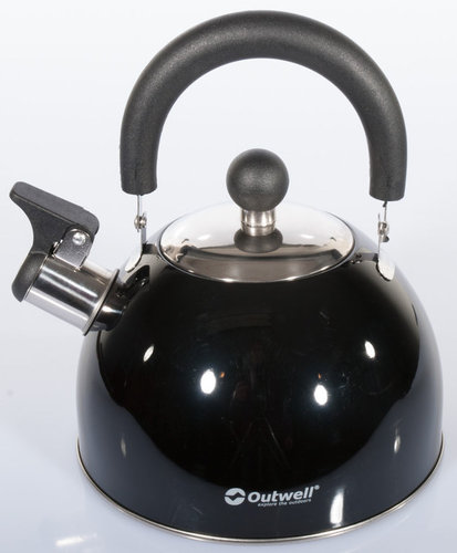 Outwell Stainless Steel Whistling Kettle 1,8 l black