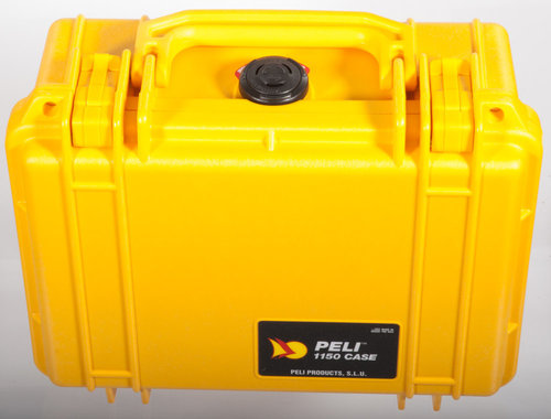 Pelibox 1150 with foam yellow
