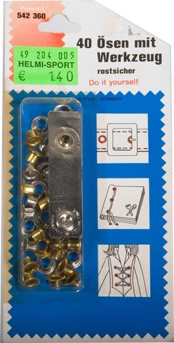 40 Eyelets and Rings with Tool - 18x Special Offer!