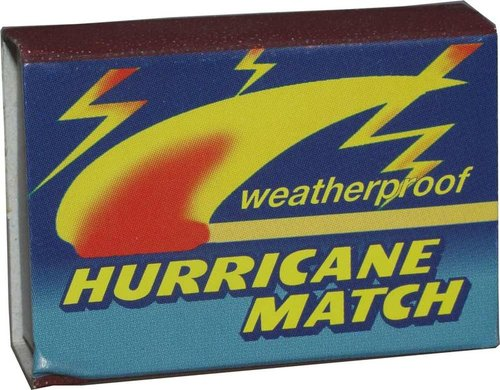 Hurricane Matches Stormproof, Pack of 3