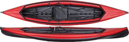 Nortik Scubi 1 XL Single-Hybrid-Inflatable with Paddle and Spraycover red-black