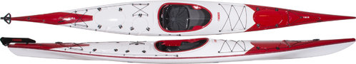 Norse Ymir 550 Carbon with rudder - red-white