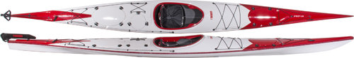 Norse Freyja 550 Carbon with rudder - red-white